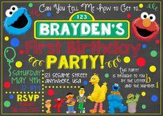 Sesame Street Chalkboard Invitation / Sesame by LetsGetChalky