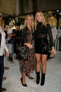 MILAN, ITALY - SEPTEMBER 23: Giorgia Marin and Valentina Ferragni attend the Chiara Ferragni SS 18 collection during Milan Fashion Week Spring/Summer 2018 on September 23, 2017 in Milan, Italy. (Photo by Mario Castaldi)