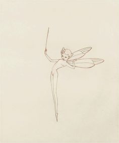 Les Clark drew some of the nature fairies for Fantasia's Nutcracker sequence. Not easy to portray a nude character with such innocent charm.