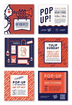 Lovely branding project for Montfoort designed by Playhaus . Beautiful typography, colour and pattern work! via Fancy .