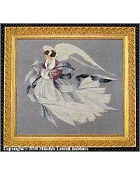 Angel Of Winter, Lavender and Lace Cross Stitch Angels, Counted Cross Stitch Patterns, Cross Stitch Supplies, Criss Cross, Hand Stitching, Lavender, Needlework, Third, Stitches
