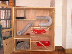DIY Chinchilla Cage Wardrobe   la maison de votre furet - faire fabriquer sa cage par mes soins ...