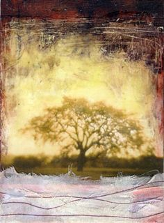 Rooted Within by Bridgette Guerzon Mills - Love the incorporation of fabric