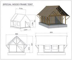 tents with wooden frames - Google Search