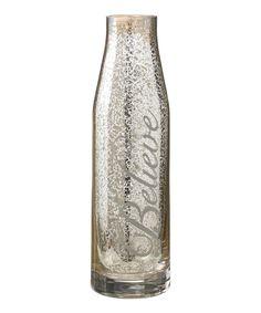 Love this 'Believe' Glass Carafe by Grasslands Road on #zulily! #zulilyfinds
