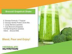 Herbalife Recipes, Herbalife Shake, Herbalife Nutrition, Protein Drink Mix, Almond Milk, Grapefruit, Smoothies, Herbalism, Smoothie