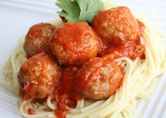 """polpette rezept """"These oven-baked meatballs are fast and easy to prepare and very kid-friendly. You can serve them with pasta and spaghetti sauce or just eat them with ketchup, as my c Oven Baked Meatballs, Ground Beef Meatballs, Sausage Meatballs, Best Meatballs, Turkey Meatballs, Freeze Meatballs, Beef Dishes, Pasta Dishes, Turkey Dishes"""