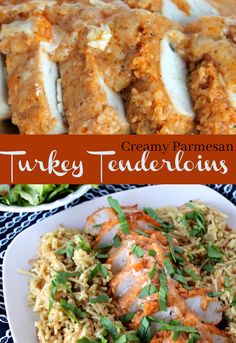 -- A Pinch of Joy Creamy Crusted Baked Turkey Tenderloins with a kick Turkey Cutlet Recipes, Turkey Tenderloin Recipes, Cutlets Recipes, Turkey Recipes, Meat Recipes, Chicken Recipes, Cooking Recipes, Healthy Recipes, Trout Recipes
