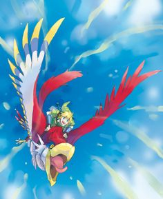 Link and The Crimson Loftwing! YEAH!!!