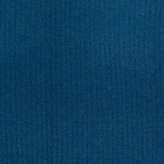 Teal Wool-Blend Rib Knit