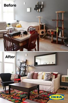 Create a living room that meets all of your needs. Simple changes with IKEA furniture can update the style of the whole room. Cozy Living Rooms, Apartment Living, Living Room Decor, Comfy Cozy Home, Ikea Home Tour, Salons Cosy, Apartment Makeover, Ikea Furniture, Cozy House