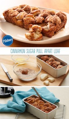 Cinnamon Sugar Pull Apart Loaf has the makings of a beautiful morning! Wake up the family with the aroma of something baking this weekend. Refrigerated buttermilk biscuits bake so easily into a very delectable coffee cake!
