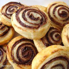 Using gluten free puff pastry - Chocolate Swirls - easy last minute puff pastry desserts