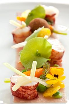 Dish created by Michelin Star chef Nicholas Magie at Le Saint James, Bordeaux