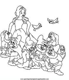 biancaneve_b5 Disegni da colorare gratis per bambini