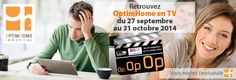 Retrouvez OptimHome en TV du 27 septembre au 31 octobre 2014