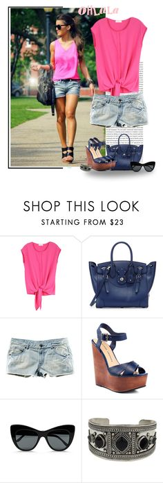 """""""2015 pink"""" by priscilla12 ❤ liked on Polyvore featuring Oris, Ralph Lauren, H&M, Chinese Laundry, STELLA McCARTNEY and Topshop"""