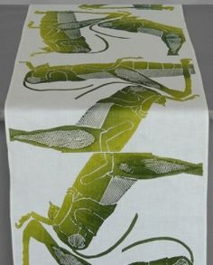 Dermond Peterson Grasshopper - Green Table Runner