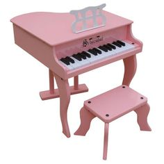 Pink Children's Pianos From The Pink Superstore - Pink Kids Pianos... ❤ liked on Polyvore featuring music, toys, children, furniture and kids