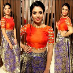 Actress sreemukhi New Photos, Stills, Images Bollywood Bikini, Bollywood Actress, Oscars Red Carpet Dresses, Oscar Fashion, Hollywood Heroines, Indian Bridal Fashion, Outfits 2016, Satin Blouses, Russian Models
