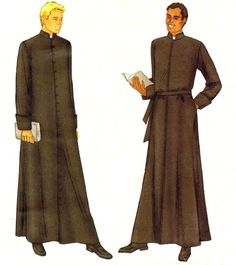 Mens Robe Cassock Priest Clergy Butterick 6844 by patternshop, $9.99