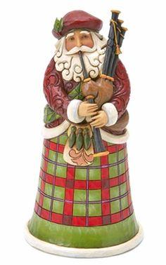 """Jim Shore Figurine - """"Scottish Santa Figurine"""""""