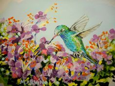 The Hummingbird original artwork Acrylics on canvas paper affordable originals by MARVINSTUDIO on Etsy Original Paintings For Sale, Original Artwork, Canvas Paper, Acrylics, Hummingbird, The Originals, Etsy, Hummingbirds, Acrylic Nail Designs