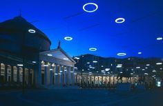 Rebecca Horn - Mother of pearl Spirits, 2002 Street Installation, Light Installation, Exterior Lighting, Outdoor Lighting, Landscape Lighting Transformer, Horn, Public Realm, Street Furniture, Festival Lights