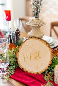 Live Edge Wooden Table Numbers // Festive Holiday Inspired Wedding Ideas via TheELD.com Protea Wedding, Chocolate Covered Pretzel Rods, Wooden Table Numbers, Modern Groom, Chocolate Cake Pops, Wedding Inspiration, Wedding Ideas, Event Company, Covered Strawberries