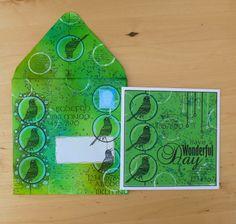 Mail Art - Altered envelope and matching card, made by Alie Hoogenboezem-de Vries