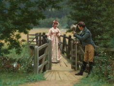 """The Gallant Suitor"" von Edmund Blair Leighton (geboren am 21. September 1853 in London, gestorben am 1. September 1922 in London), englischer Maler."
