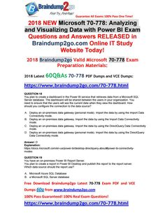 [2018-6-New]Braindump2go 70-778 Dumps with PDF and VCE 60Q Free Share(18-23) 10th Exam, Business Architecture, Microsoft Dynamics, Big Data, Pdf, Writing, This Or That Questions, News