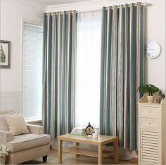 Modern minimalist vertical stripes  chenille bedroom  curtains modern blackout curtains for living room rideaux pour le salon #Affiliate