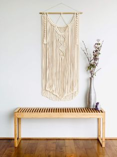 Love & Fiber features beautiful macrame and fiber art wall hanging pieces to fill your blank walls, make them pop with color and instantly add personality to any room. Bohemian Wedding Decorations, Bohemian Decor, Bohemian Nursery, Large Macrame Wall Hanging, Hanging Wall Art, Wall Hangings, Wall Tapestries, Bohemian Living Rooms, Living Room Decor