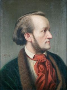 Richard Wagner (1813-1883), painting (1862), by Cäsar Willich (1825-1886).