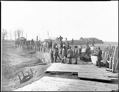 Confederate Fortifications - Manassas, VA, March 1862