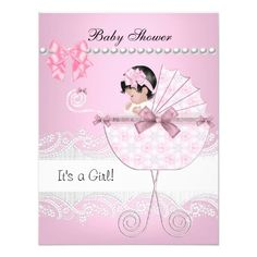Pretty Baby Shower Cute Baby Girl Pink Vintage