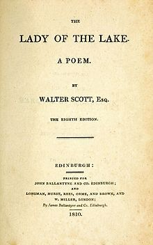 The Lady of the Lake (poem), Sir Walter Scott - Wikipedia, the free encyclopedia Carta Magna, Lake Quotes, Purple Books, I Love Reading, Work Quotes, Book Authors, Book Lists, Short Stories, Books To Read