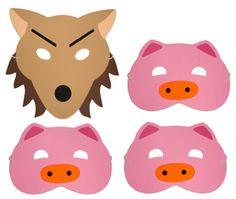 Three Little Pigs Foam Masks