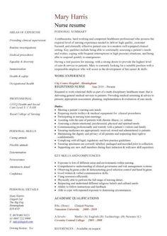 Nursing Job Resume Sample Resume Sample