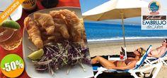 Embrujo de Mar Restaurant y Club de Playa en Bucerías - $99 en lugar de $199 por 1 Ceviche ó 1 Dedos de Pescado + 1 Cerveza Nacional ó 1 Refresco Click http://cupocity.com/