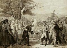 Napoléon reçoit la clé de la ville de Vienne, gravure. Source: Wikimedia Commons - Licence (CC-BY-SA 3.0)