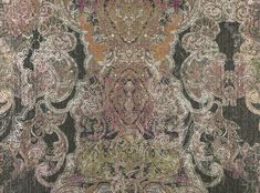 Intricate layers and elaborate detailing are considerately positioned to create a large scale Moroccan inspired damask, digitally printed on stunning embossed vinyl. Vinyl Wallcovering Designer Fabrics & Wallcoverings, Upholstery Fabrics