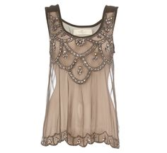 Brown Lace Top