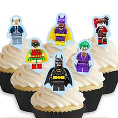 From 1.65:Cakeshop 12 X Pre-cut Lego Batman Stand Up Edible Cake Toppers