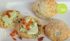 Mediterranean Scones with Basil-cream