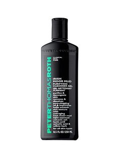 Peter Thomas Roth Irish Moor Mud Purifying Cleanser Gel is excellent at wiping out dirt, oil, and other gross skin debris to keep your complexion clear and matte.