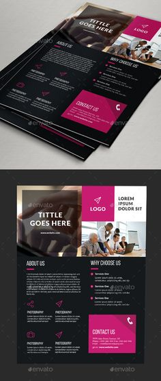 Corporate Strategy Business Flyer Template Corporate strategy - donation flyer template