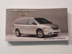 2007 Chrysler Town & Country Owners Manual Book