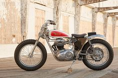 BSA A65 Trackmaster by Bill Bradshaw, resurrected by Dave Schostkewitz of Classic Cycles, New Jersey.